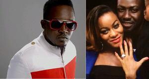 M.I congratulates Chris Attoh and Damilola Adegbite on engagement.